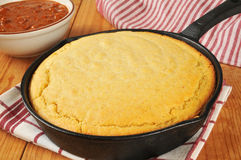 Cornbread and chili Royalty Free Stock Photo