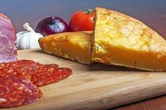 Cornbread com queijo Imagens de Stock