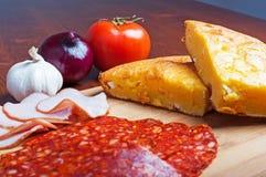 Cornbread com queijo Foto de Stock