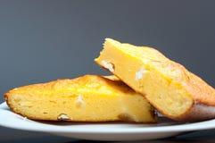 Cornbread com queijo Fotografia de Stock