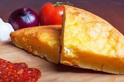 Cornbread con formaggio Fotografie Stock