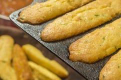 Cornbread del Jalapeno cocido recientemente Imagen de archivo libre de regalías