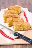 Cornbread do queijo do Chile imagem de stock