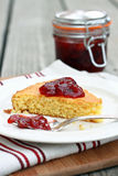 Cornbread and Jam Stock Image