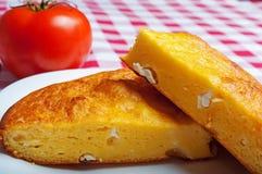 Cornbread met kaas royalty-vrije stock foto