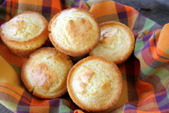 Cornbread Muffins Stock Photos