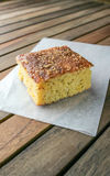Cornbread on white parchment paper Stock Images