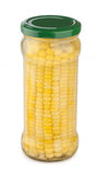 Corncob in the glass jar Stock Images