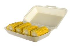 Corncobs in box Stock Photos