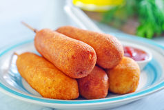 Corndogs Royalty Free Stock Photos