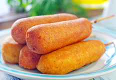 Corndogs Stock Photos