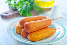 Corndogs Royalty Free Stock Photography