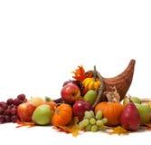 Corne d'abondance d'automne sur un au sol de dos de blanc Images libres de droits
