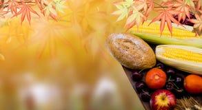 Corne d'abondance de récolte de chute Saison d'automne avec des fruits et légumes Photo libre de droits