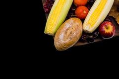 Corne d'abondance de récolte de chute Saison d'automne avec le fruit Photo libre de droits