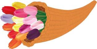 Corne d'abondance des tulipes illustration de vecteur