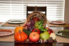 Corne d'abondance sur la table Photographie stock libre de droits