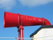 Corne de brume rouge Images libres de droits