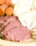 Corned beef cabbage carrots  St. Patrick's Day meal Stock Images