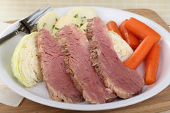 Corned Beef and Cabbage Dinner Stock Photos