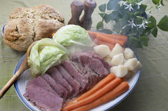 Corned Beef And Cabbage Dinner Stock Photography