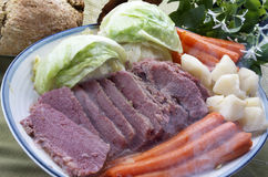 Corned Beef And Cabbage Dinner Royalty Free Stock Photography