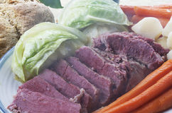 Corned Beef And Cabbage Dinner Royalty Free Stock Photos