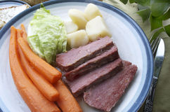 Corned Beef And Cabbage Plate Royalty Free Stock Photography