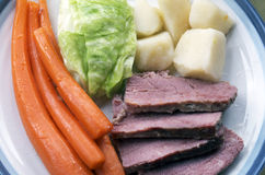 Corned Beef And Cabbage Plate Stock Image