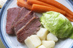 Corned Beef And Cabbage Plate Royalty Free Stock Photos