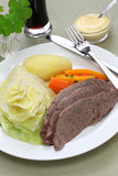 Corned beef and cabbage, st patricks day dinner Stock Photography