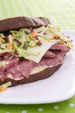 Corned Beef With Coleslaw Royalty Free Stock Photo