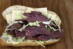 Corned Beef Deli Sandwich Royalty Free Stock Photo