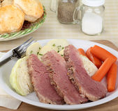 Corned beef et chou photographie stock