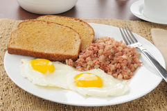 Corned beef hash and eggs Royalty Free Stock Image