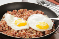 Corned beef hash Royalty Free Stock Photos