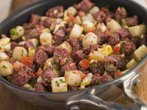 Corned Beef Hash In A Frying Pan Royalty Free Stock Photo