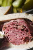 Corned beef pastrami combination sandwich Stock Images