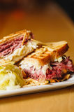 Corned Beef and Pastrami Sandwich Stock Image