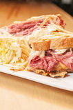 Corned Beef and Pastrami Sandwich Royalty Free Stock Photo