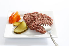 Corned beef on plate Royalty Free Stock Images