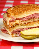Corned Beef Reuben Sandwich Stock Photo
