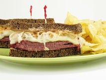 Corned Beef Reubens Stock Images