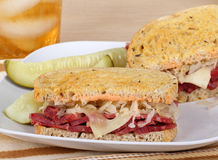 Corned Beef on Rye Sandwich Stock Image