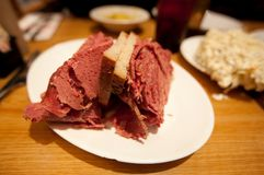 Corned Beef on Rye Sandwich Royalty Free Stock Photos