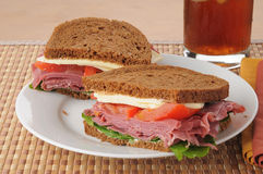 Corned beef sadwich Royalty Free Stock Photos