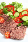 Corned beef with salad Stock Images