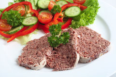 Corned beef with salad Royalty Free Stock Image