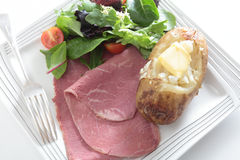 Corned beef salad from above Stock Photos