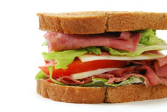 Corned beef sandwich Royalty Free Stock Images